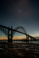 Total Eclipse Over Yaquina Bay Bridge